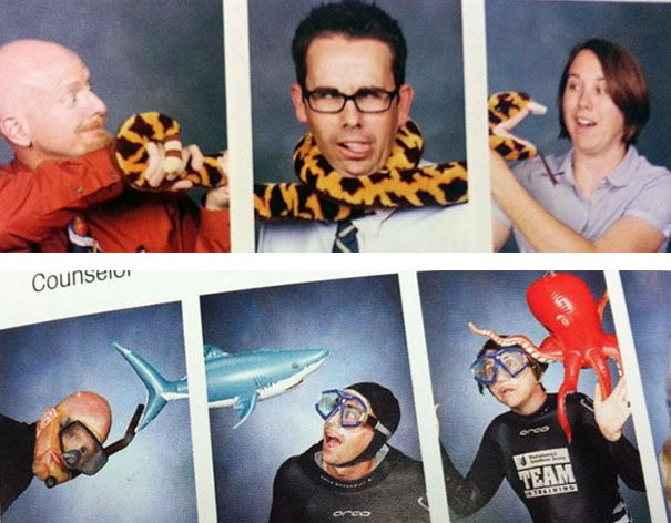 maestros que cada año innovan en su foto del anuario