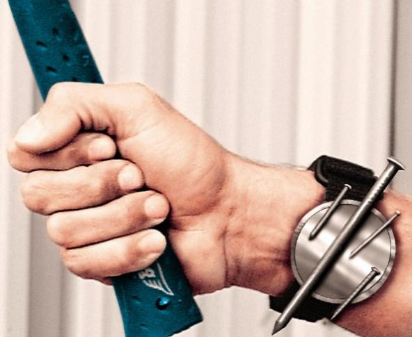 pulsera magnética para guardar clavos tornillos y cosas de metal