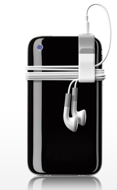 sujetador de cable para audifonos de iphone