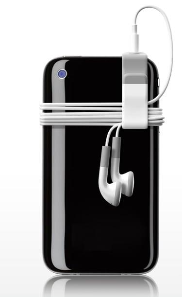 sujetador de cable para audifonos de iphone