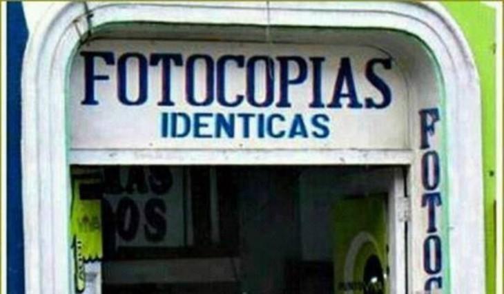 fotocopias identicas  iguales