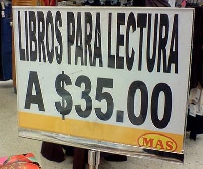 letrero de libro mal redactado
