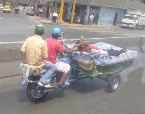 cambio de colchon en un moto triciclo