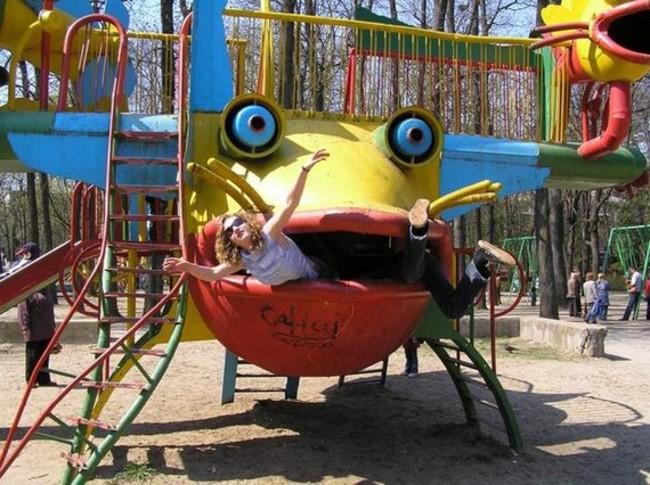 rana de parque comiendose a una muchacha en rusia
