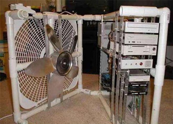 ventilador para pc entubos de pvc