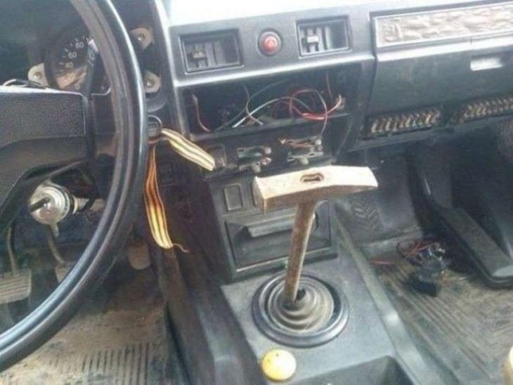 palanca para auto con martillo como opción