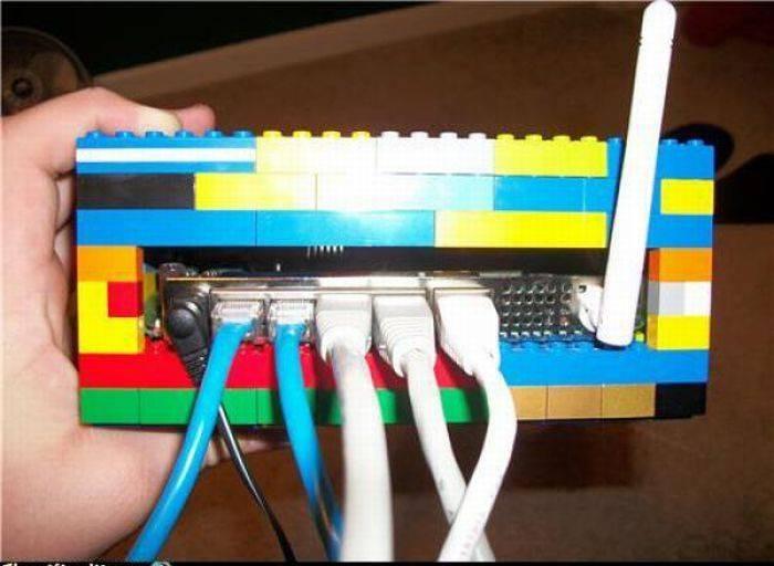Regadera Para Baño Casera:19 Un módem para los amantes de Lego