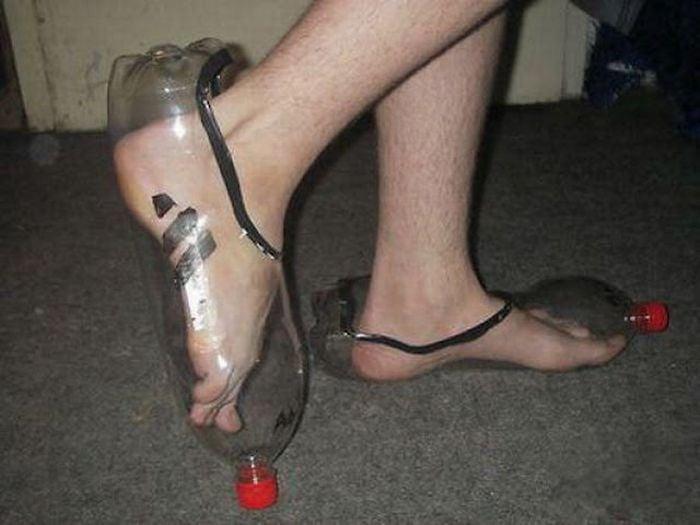 zapatos de botella de plástico