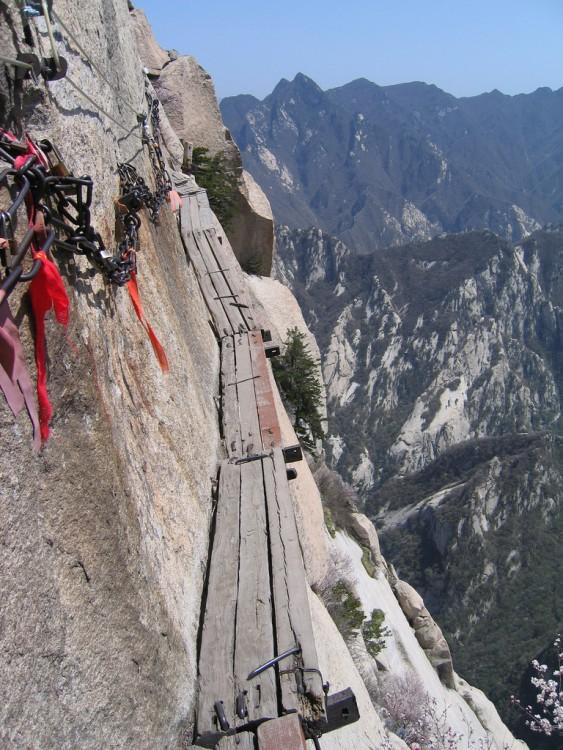 Camino alrededor del Monte Huashan