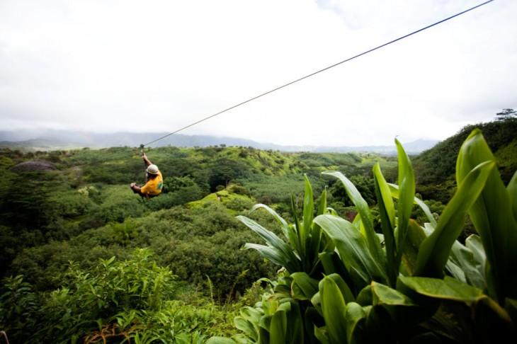 Tirolesa en Alaeloa Hawai