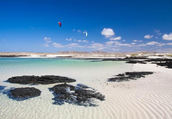 Playa de Jandía en la isla fuerteventura