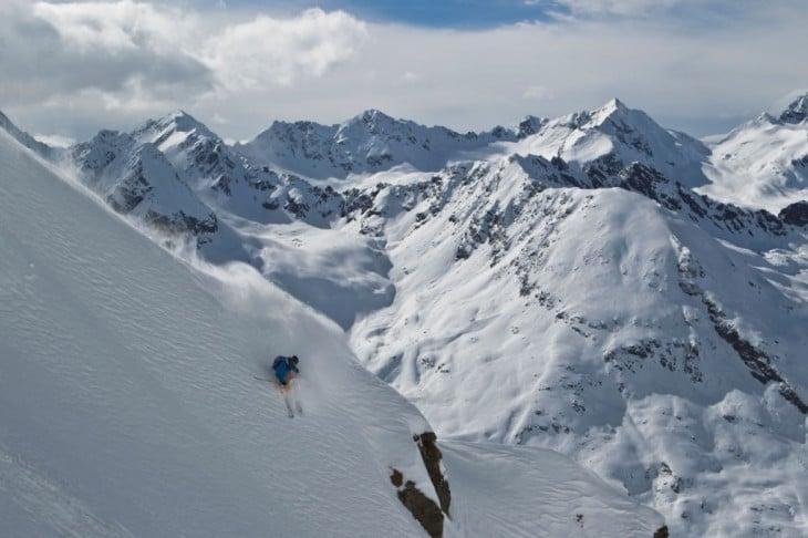 freeride en las montañas de Tirol