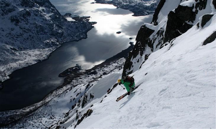 Práctica de freeride ski