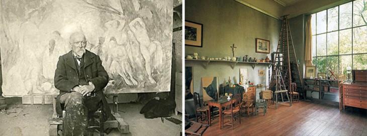 Paul Cezanne en su estudio