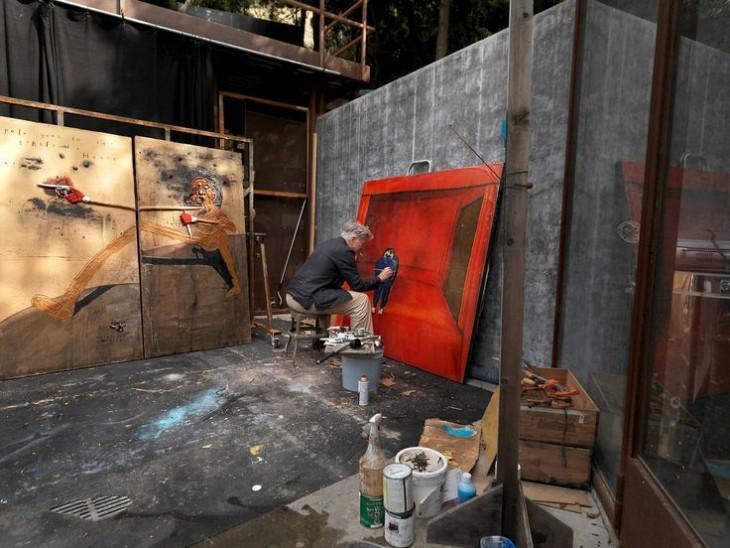 David Lynch en su estudio