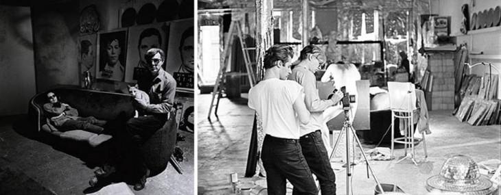 Andy Warhol en su estudio
