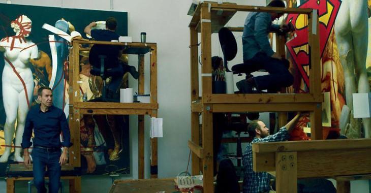 Jeff Koons en su estudio
