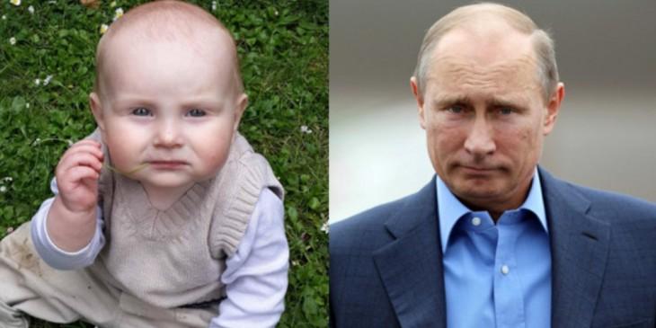 Bebé parecido a Vladimir Putin
