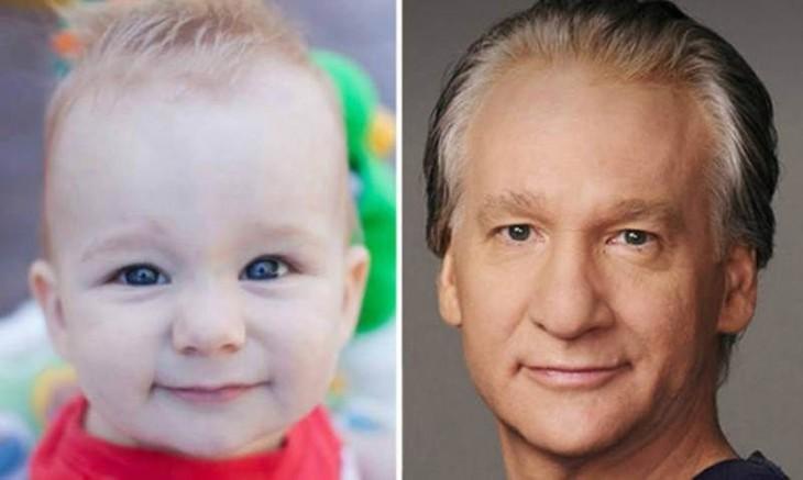 Bebé parecido a Bill Maher