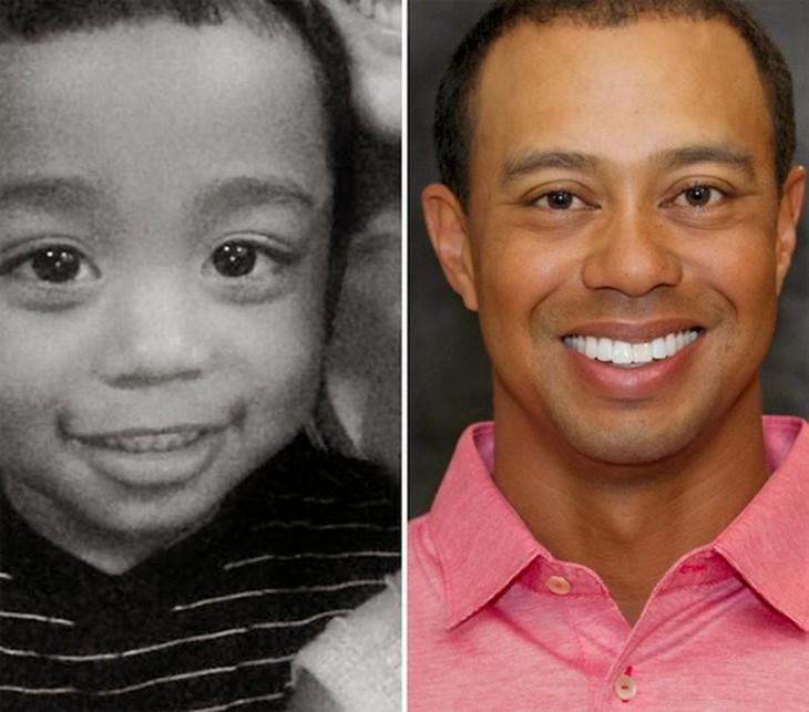 Bebé parecido a Tiger Woods