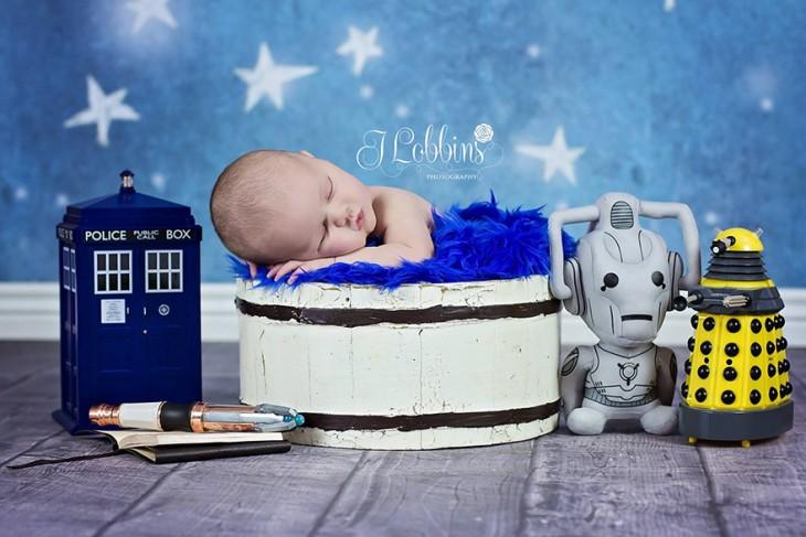 bebé disfrazado de dr who