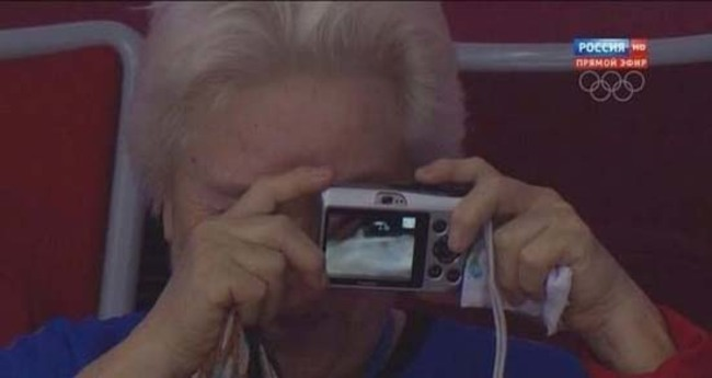 Mujer tomando una foto
