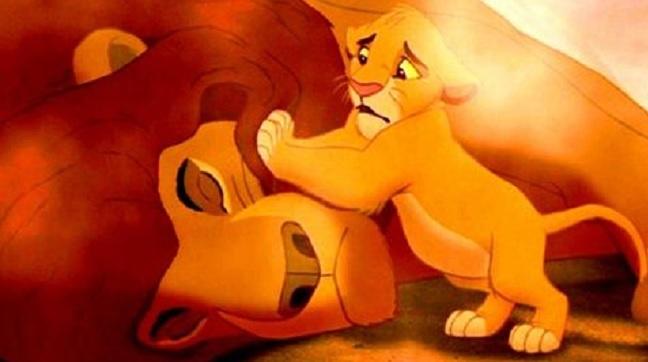 Mufasa y Simba película el rey león