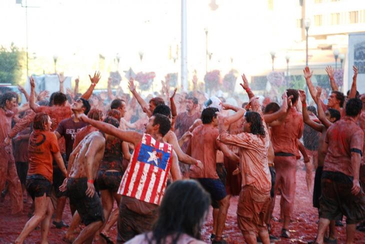Fiesta Tomatina en España