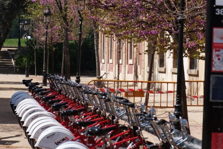 Bicis estacionadas en España