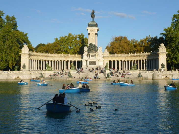Parque El Retiro en Madrid