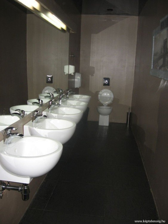 inodoro de un baño público