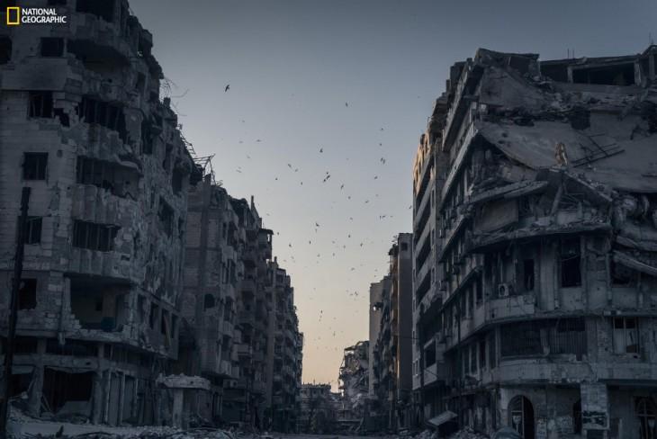 Imagen de edificios destruidos