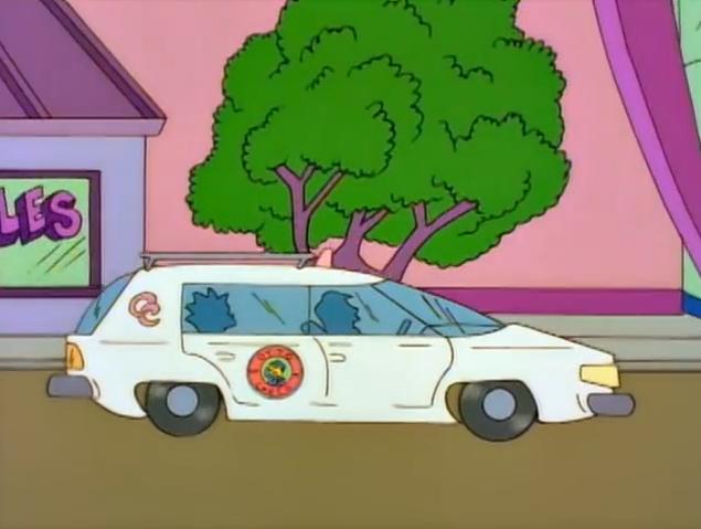"""Taxi del futuro """"Los Simpsons"""""""