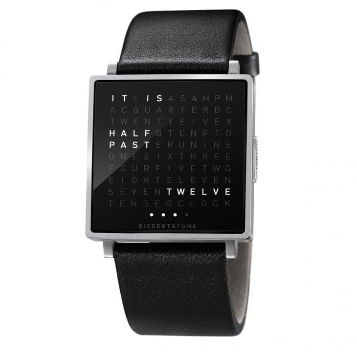 Reloj con letras