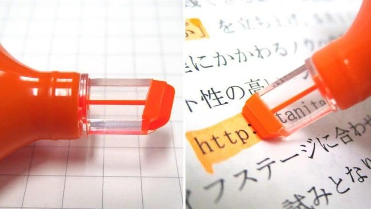 marcador transparente