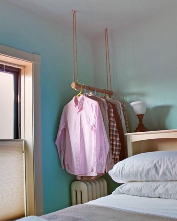 Perchero de ropa colgante de techo