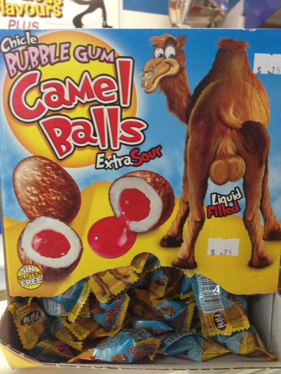 Chicle bolas de camello