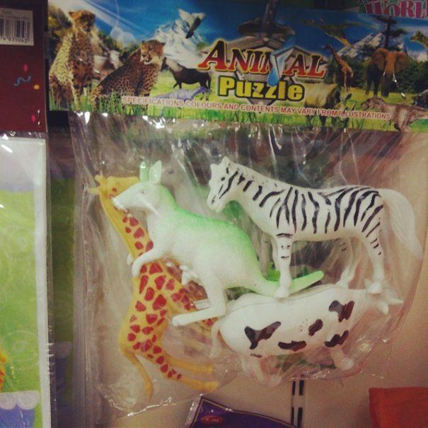 Empaque de animales de juguetes