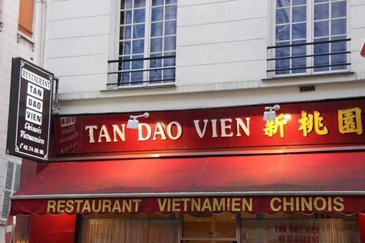 Fachada de un restaurant chino