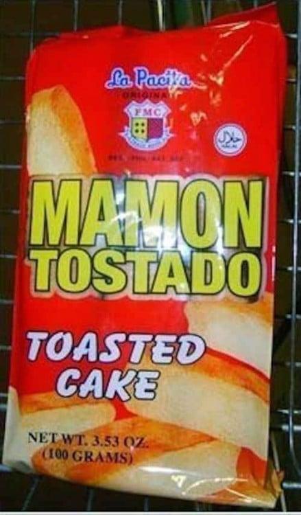 Empaque de un pan tostado