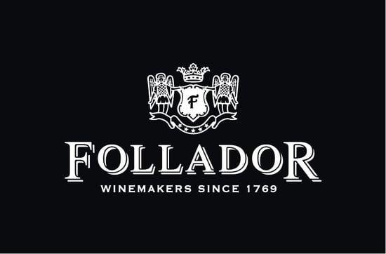 Logotipo de un vino llamado follador