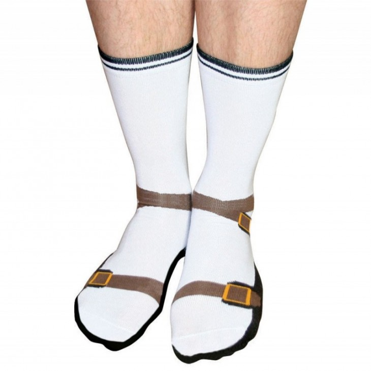 Calcetines con el diseño de sandalias