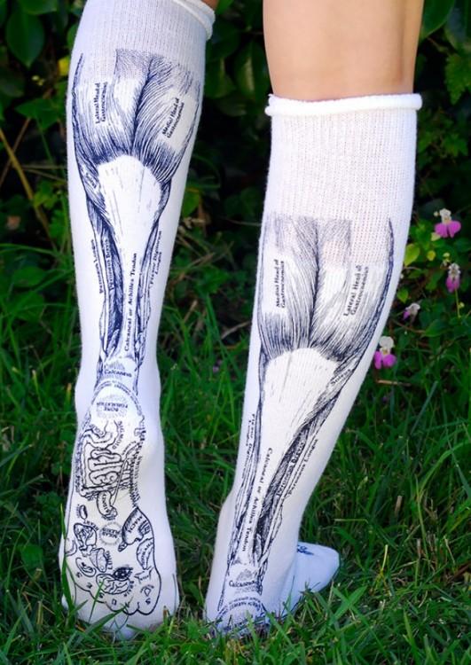 Calcetines con el diseño de músculos