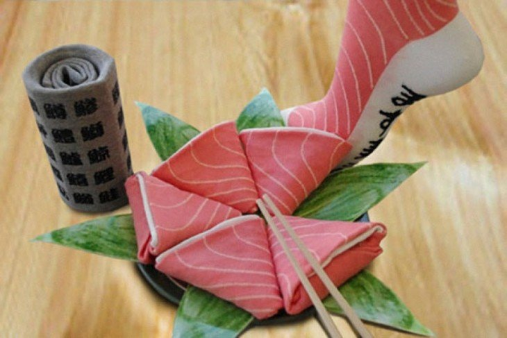 Calcetines de sushi