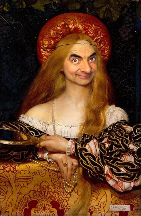 Mr. Bean en una obra de Franka Cadogana Cowpera