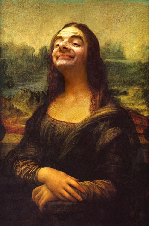 Mr. Bean en la obra de la mona lisa