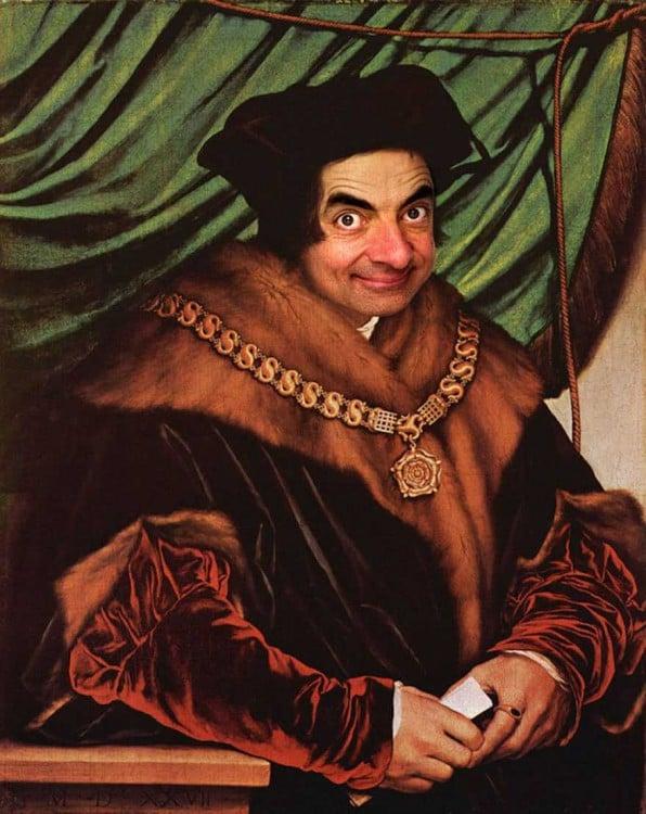 Retrato de Sir Tomas More con cara de Mr. Bean