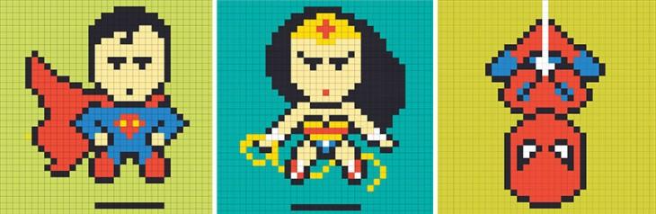 Diseños de los superhéroes