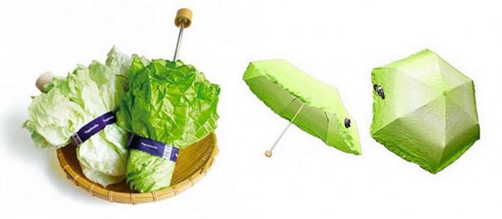 Paraguas con diseño de vegetales