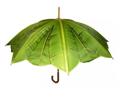 Paraguas con diseño de hoja de plátano